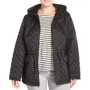Laundry By Shelli Shegal Quilted Black Zip Jacket